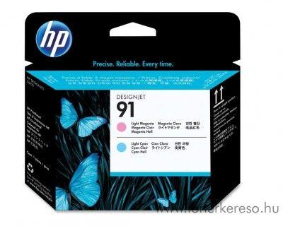 HP 91 eredeti light magenta és light cyan nyomtatófej C9462A HP Designjet Z6100ps tintasugaras nyomtatóhoz