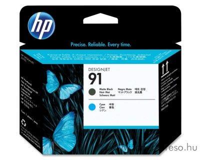 HP 91 eredeti matt fekete black és cyan nyomtatófej C9460A HP Designjet Z6100ps tintasugaras nyomtatóhoz