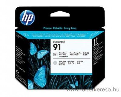 HP 91 eredeti photo black és light grey nyomtatófej C9463A HP Designjet Z6100ps tintasugaras nyomtatóhoz