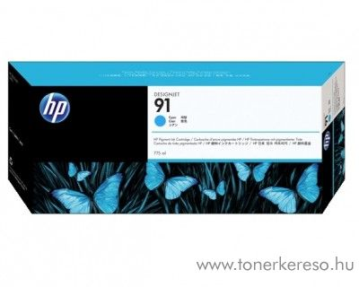 HP 91 eredeti vivera cyan tintapatron C9467A HP Designjet Z6100ps tintasugaras nyomtatóhoz