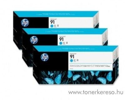 HP 91 eredeti vivera cyan tripla tintapatron csomag C9483A HP Designjet Z6100ps tintasugaras nyomtatóhoz
