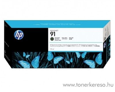 HP 91 eredeti vivera matt fekete black tintapatron C9464A HP Designjet Z6100 tintasugaras nyomtatóhoz