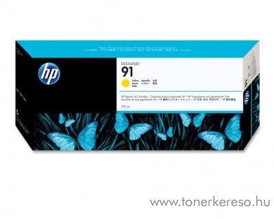 HP 91 eredeti vivera yellow tintapatron C9469A HP Designjet Z6100ps tintasugaras nyomtatóhoz
