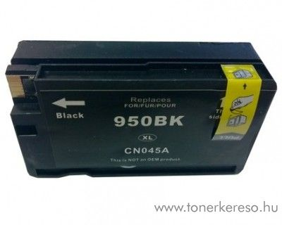 HP 950BkXL (CN045AE) black nagykapacitású kompatibilis tintapatr