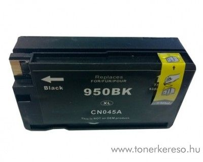 HP 950XLBk black nagykapacitású kompatibilis tintapatron