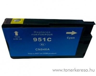 HP 951CXL (CN046AE) cyan nagykapacitású kompatibilis tintapatron