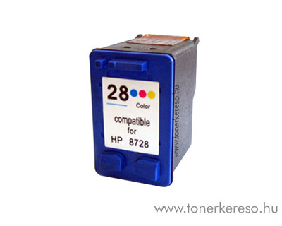 HP 8728 (No. 28) utángyártott színes tintapatron GIH8728 HP Deskjet 3745 tintasugaras nyomtatóhoz