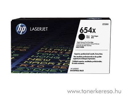 HP M651/651dn (654X) eredeti black toner CF330X HP Color LaserJet Enterprise M651xh lézernyomtatóhoz