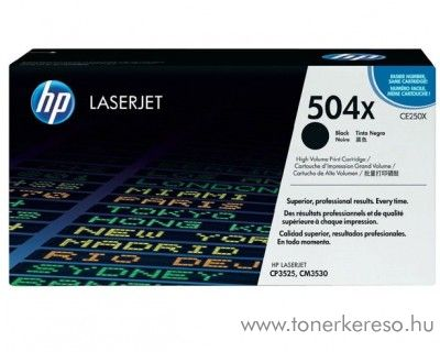 HP CE250X (No 504X) black toner