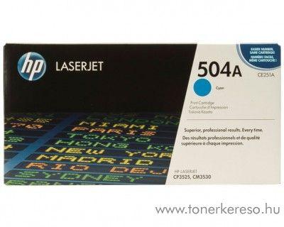 HP CE251A (No 504A) cyan toner HP Color LaserJet CM3530 lézernyomtatóhoz