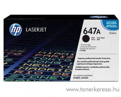 HP CE260A (No 647A) black toner HP Color Laserjet CM4540mfp lézernyomtatóhoz