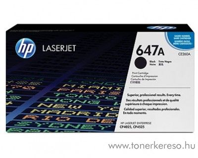 HP CE260A (No 647A) black toner HP Color LaserJet Enterprise CP4525xh lézernyomtatóhoz
