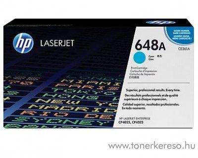 HP CE261A (No 648A) cyan toner HP Color Laserjet CM4540mfp lézernyomtatóhoz