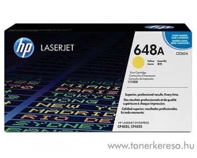 HP CE262A (No 648A) yellow toner
