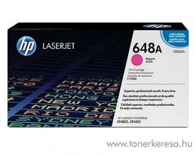 HP CE263A (No 648A) magenta toner HP Color Laserjet CM4540mfp lézernyomtatóhoz