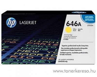 HP CF032A (No. 646A) eredeti yellow toner CM4540
