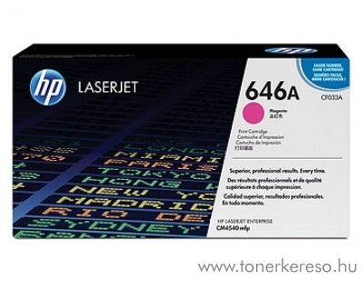 HP CF033A (No. 646A) eredeti magenta toner CM4540 HP Color Laserjet CM4540mfp lézernyomtatóhoz