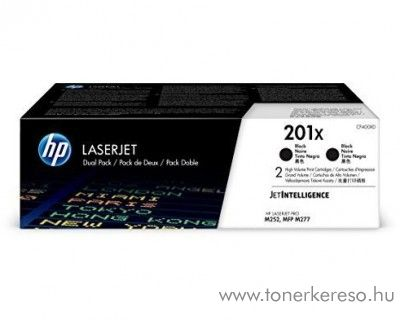 HP LaserJet Pro M252 (201X) 2db eredeti black toner CF400XD HP Color LaserJet Pro M252n  lézernyomtatóhoz