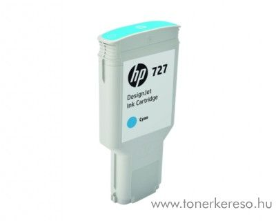HP DesignJet T1530/T2530 (727) eredeti cyan tintapatron F9J76A HP DesignJet T930PS tintasugaras nyomtatóhoz