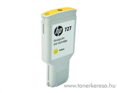 HP DesignJet T1530/T2530 (727) eredeti yellow tintapatron F9J78A HP DesignJet T930PS tintasugaras nyomtatóhoz
