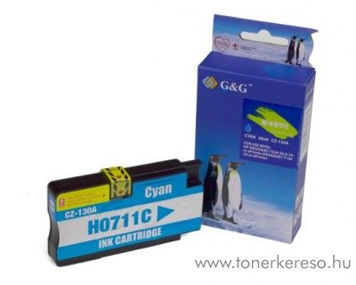 HP Designjet T520 utángyártott cyan tintapatron GGH711XLC HP Designjet T520 tintasugaras nyomtatóhoz