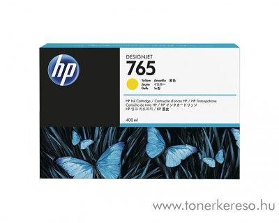 HP DesignJet T7200 (765) eredeti yellow tintapatron F9J50A HP Designjet T7200 tintasugaras nyomtatóhoz