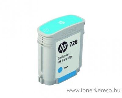 HP DesignJet T730/T830 (728) eredeti cyan tintapatron F9J63A HP DesignJet T730 tintasugaras nyomtatóhoz