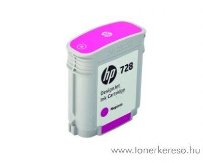 HP DesignJet T730/T830 (728) eredeti magenta tintapatron F9J62A HP DesignJet T830 MFP  tintasugaras nyomtatóhoz