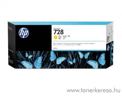 HP DesignJet T730/T830 (728) eredeti yellow tintapatron F9J61A HP DesignJet T730 tintasugaras nyomtatóhoz