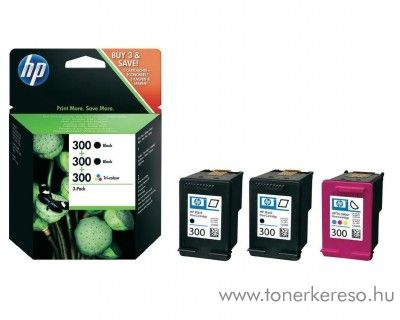 HP 300 eredeti tintapatron pack SD518AE HP DeskJet F2400 tintasugaras nyomtatóhoz