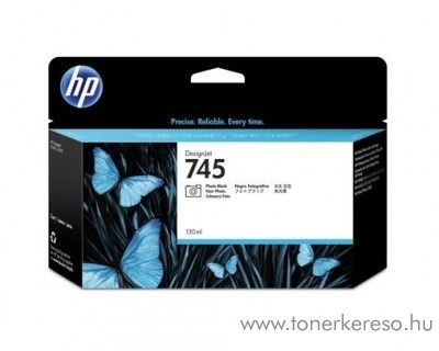 HP Designjet Z2600 (745) eredeti photo black tintapatron F9J98A HP DesignJet Z5600 tintasugaras nyomtatóhoz