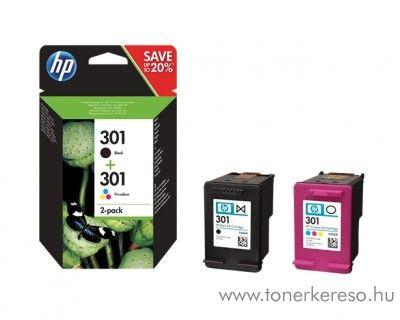 HP Deskjet 1050 (301) eredeti multipack B+CMY patron N9J72AE HP Deskjet 2547 e-All-in-One tintasugaras nyomtatóhoz