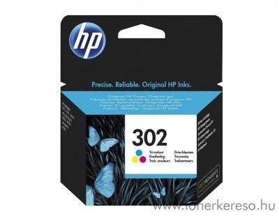 HP Deskjet 2130 (302) eredeti CMY tintapatron F6U65AE HP Envy 4524 e-All-in-One tintasugaras nyomtatóhoz