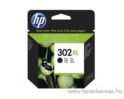 HP Deskjet 2130 (302XL) eredeti black tintapatron F6U68AE  HP OfficeJet 3831  tintasugaras nyomtatóhoz