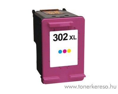 HP Deskjet 2130 (302XL) utángyártott CMY tintapatron GGH302C  HP OfficeJet 3831  tintasugaras nyomtatóhoz