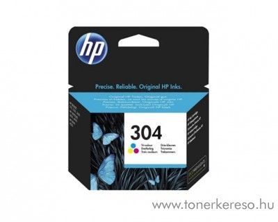 HP DeskJet 3720/3730 (304) eredeti CMY tintapatron N9K05AE HP DeskJet 2652 All-in-One Printer tintasugaras nyomtatóhoz