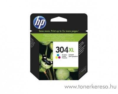 HP DeskJet 3720/3730 (304XL) eredeti CMY tintapatron N9K07AE HP DeskJet 2652 All-in-One Printer tintasugaras nyomtatóhoz