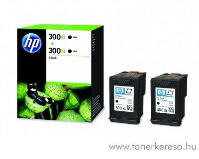 HP Deskjet D1660 (300XL) 2db eredeti black tintapatron D8J43AE HP DeskJet D5560 tintasugaras nyomtatóhoz