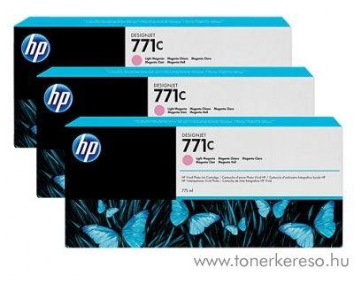 HP Djet Z6200(771C) 3db eredeti light magenta tintapatron B6Y35A HP DesignJet Z6200 tintasugaras nyomtatóhoz