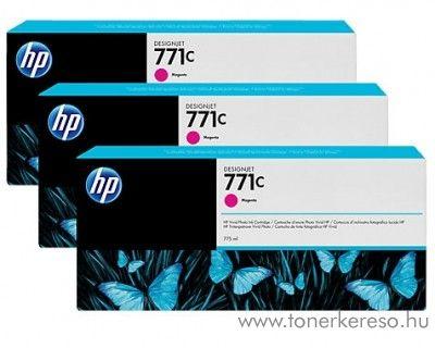 HP Djet Z6200 (771C) 3db eredeti magenta tintapatron B6Y33A HP DesignJet Z6200 tintasugaras nyomtatóhoz