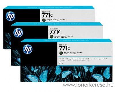 HP Djet Z6200 (771C) 3db eredeti matte black tintapatron B6Y31A HP DesignJet Z6200 tintasugaras nyomtatóhoz