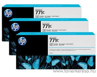 HP Djet Z6200 (771C) 3db eredeti photo black tintapatron B6Y37A HP DesignJet Z6200 tintasugaras nyomtatóhoz