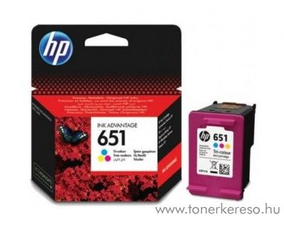 HP Ink Advantage 5575 (No.651) eredeti CMY tintapatron C2P11AE