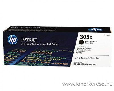 HP LaserJet 300/400 (305X) 2db eredeti black toner CE410XD HP LaserJet Pro M475 lézernyomtatóhoz