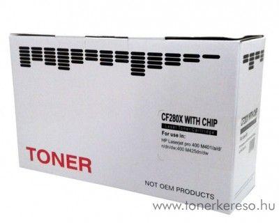 HP LaserJet Pro 400m401 (CF280X) utángyártott black toner HP Laserjet Pro 400 MFP M425dw lézernyomtatóhoz