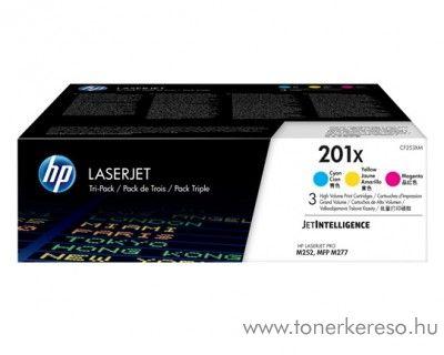 HP LaserJet Pro M252 (201X) eredeti CMY toner csomag CF253XM HP Color LaserJet M277dn lézernyomtatóhoz
