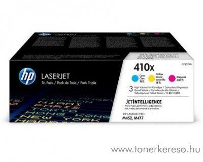 HP LaserJet Pro M452 (410X) eredeti CMY toner csomag CF252XM HP Color LaserJet Pro M477fnw lézernyomtatóhoz
