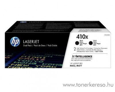HP LaserJet Pro M452/M477 (410X) 2db eredeti black toner CF410XD HP Color LaserJet Pro M477fdn lézernyomtatóhoz