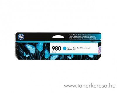 HP MFP X585z/X555dn (980) eredeti cyan tintapatron D8J07A HP Officejet Enterprise Color X555xh tintasugaras nyomtatóhoz
