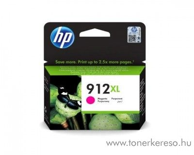 HP OfficeJet 8013 (912XL) eredeti magenta tintapatron 3YL82AE HP OfficeJet 8013 All-in-One tintasugaras nyomtatóhoz